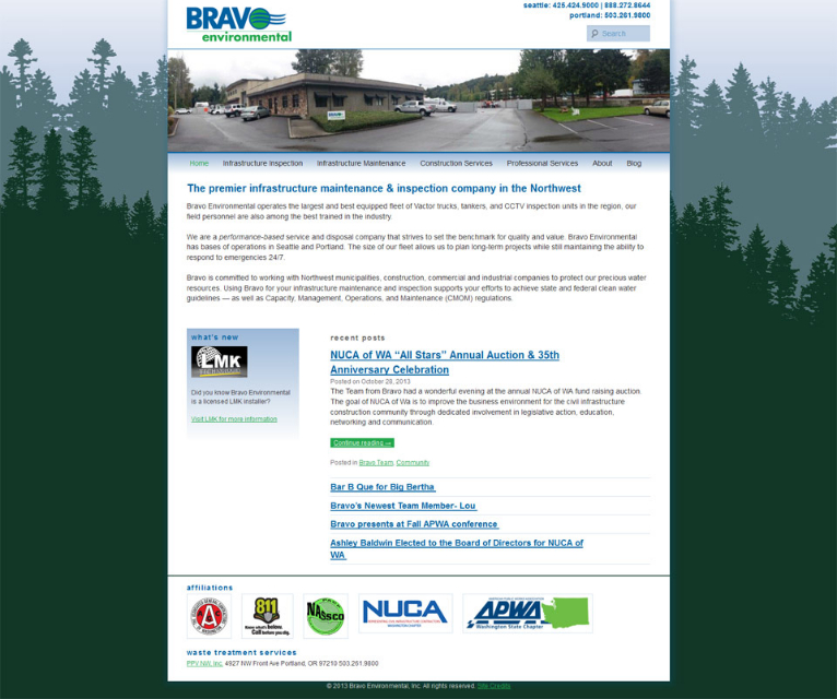 Bravo environmental website