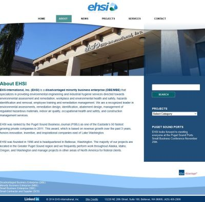Environmental services website