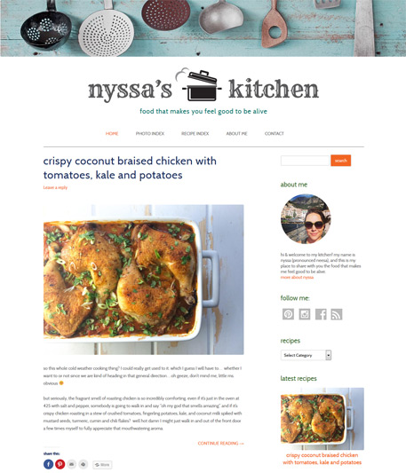 screenshot food blog