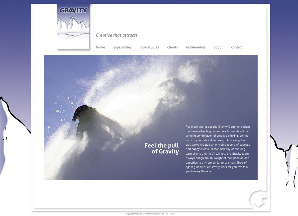 Gravity Communications website