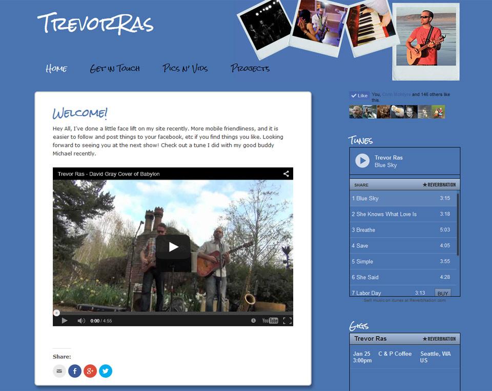Indie musician website