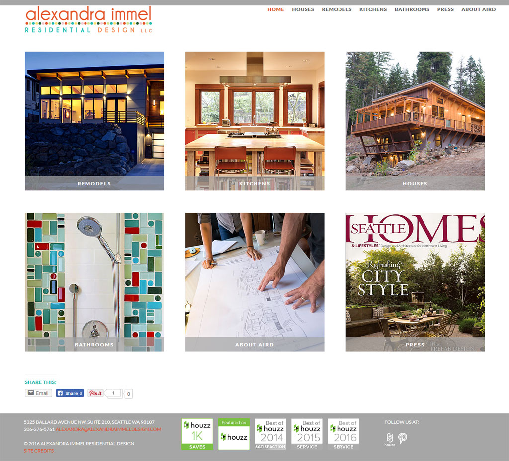 screenshot residential design website