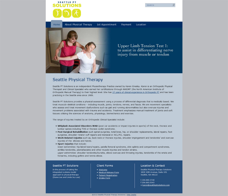Seattle Physical Therapy website