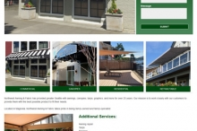 screenshot awning company website
