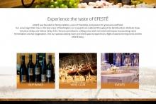 screenshot winery website
