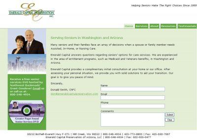 screenshot Emerald Capital