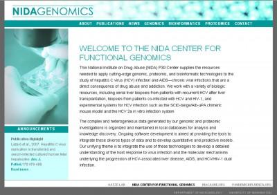 screenshot NIDA Genomics