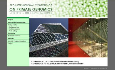screenshot Primate Genomics Conference