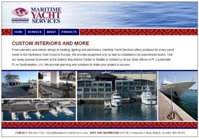 screenshot Maritime Yacht Services