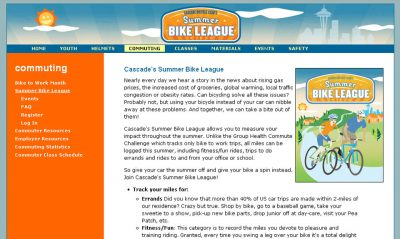 screenshot Summer Bike League