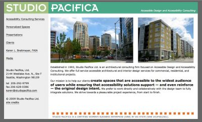 screenshot Studio Pacifica