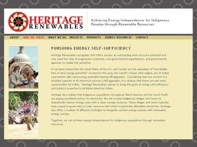screenshot Heritage Renewables