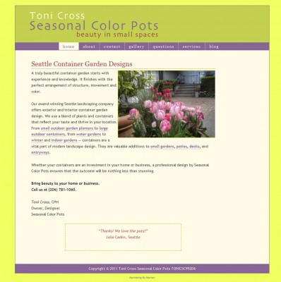 screenshot Seasonal Color Pots