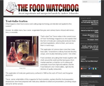 screenshot Food Watchdog
