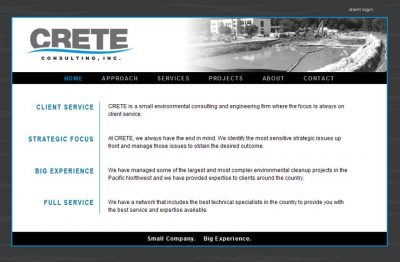 screenshot Crete Consulting