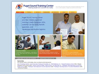 screenshot Puget Sound Training Center