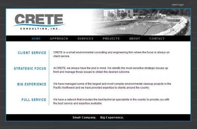 screenshot Crete Consulting