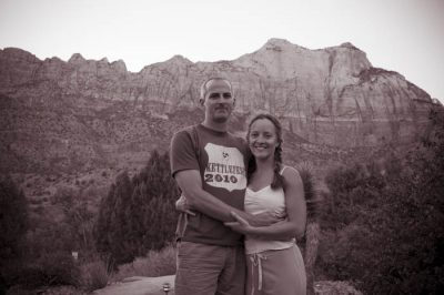 Scott and Jen in Zion