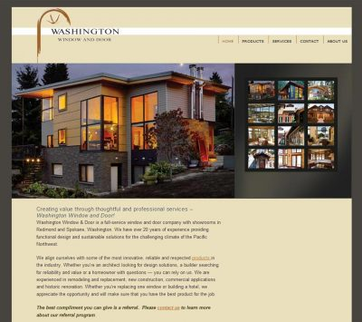 Washington Window & Door website screenshot