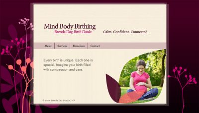 screenshot doula website