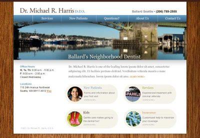 BallardNeighborhoodDentist.com screenshot