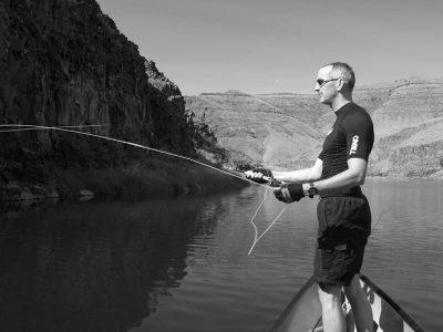 canoe-fishing on the JDR