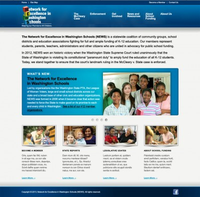 screenshot Network for Excellence in Washington Schools