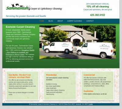 screenshot Sammamish Carpet Cleaners