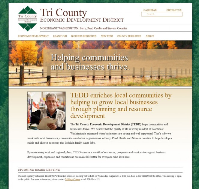 screenshot Tri County Economic Development District