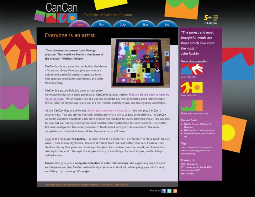 CanCan: the game of color and creation