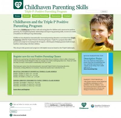 screenshot Childhaven Positive Parenting Program