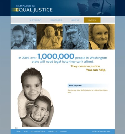 WordPress website for Campaign for Equal Justice