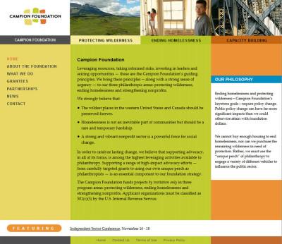 screenshot foundation website