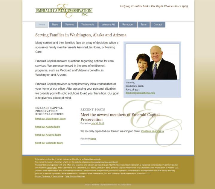 screenshot senior care services