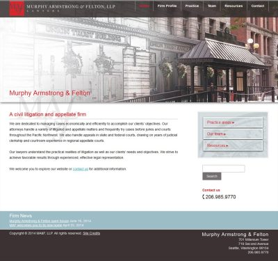 Seattle legal firm website