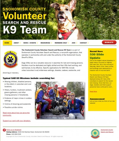 K9 Search and Rescue Team website