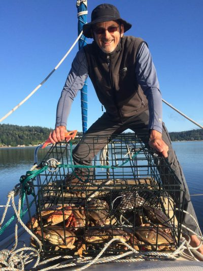Catching Dungeness crab off Vashon Island