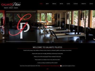 Pilates studio website
