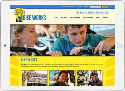 Bike Works mobile responsive website