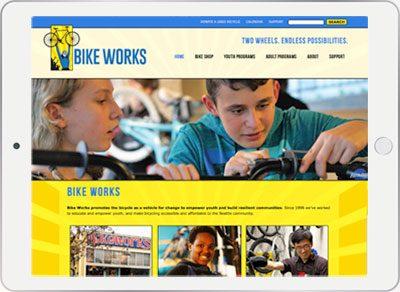 Bike Works mobile responsive website