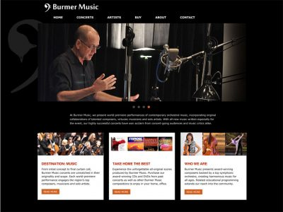 Contemporary WordPress website for composer