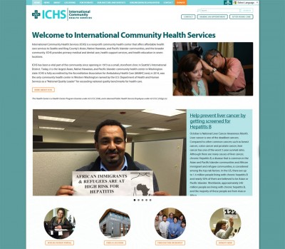 Community Health clinic website screenshot