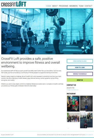 CrossFit LOFT website