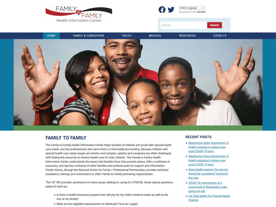Family Voices of Washington screenshot