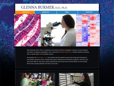 Glenna Burmer contemporary WordPress website
