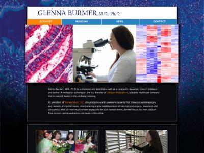 Glenna Burmer contemporary WordPress website