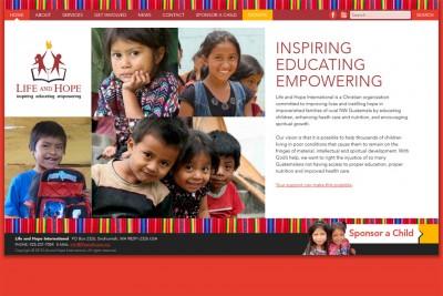 nonprofit website screenshot