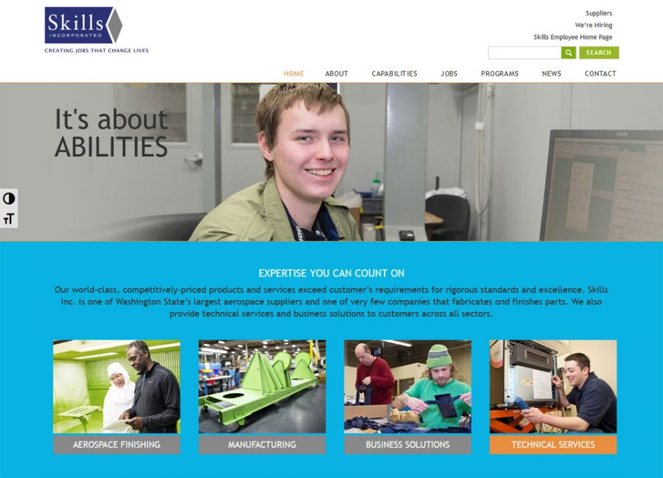 Skills Inc aerospace manufacturing website