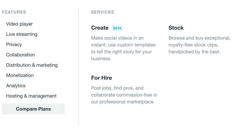 vimeo services